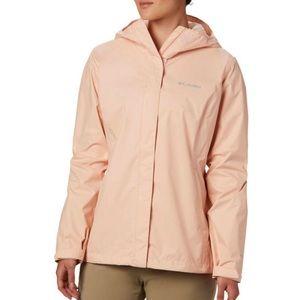 NWT columbia peachy pink arcadia ii rain jacket